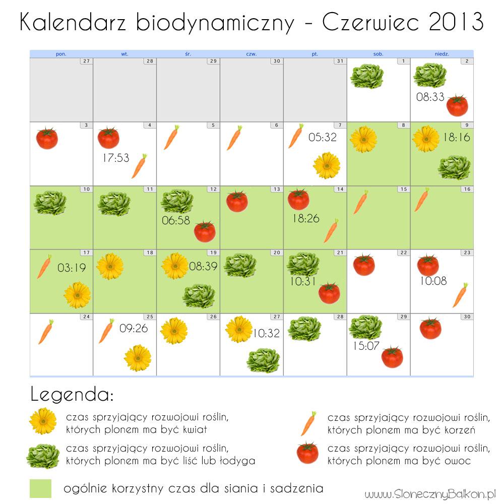 kalendarz biodynamiczny czerwiec 2013