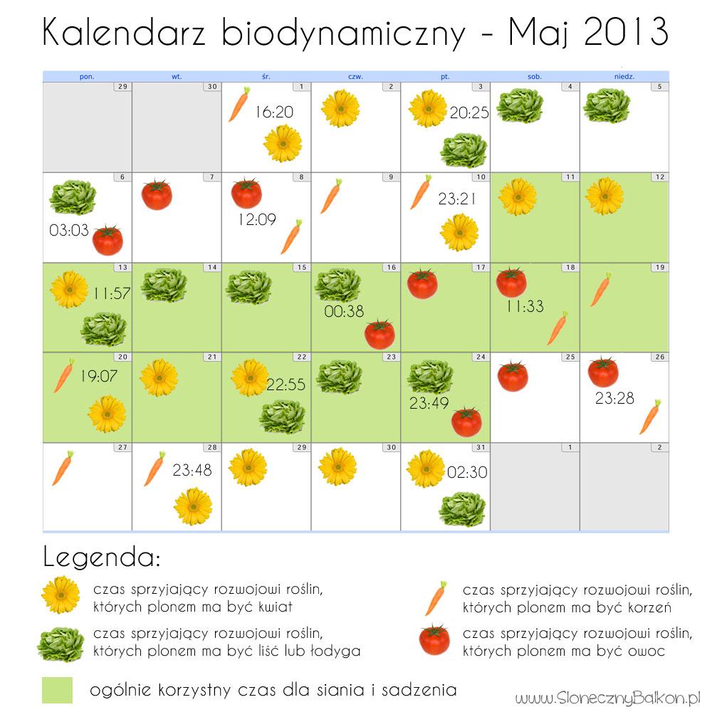 Kalendarz biodynamiczny – Maj i Czerwiec 2013