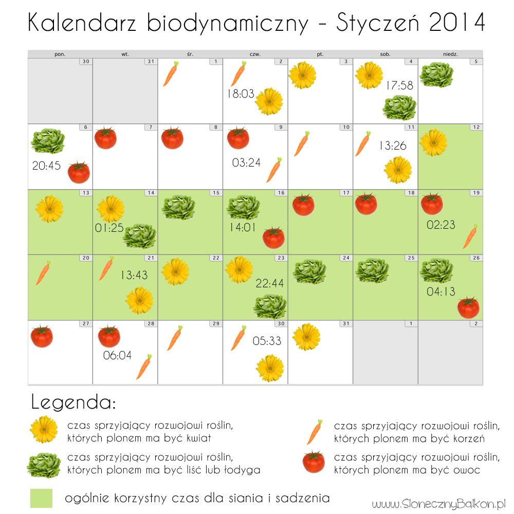 Kalendarze biodynamiczne – styczeń i luty 2014