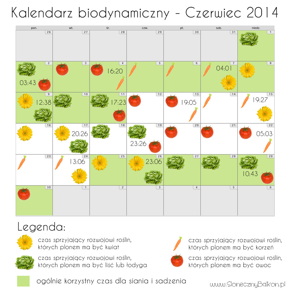 kalendarz biodynamiczny czerwiec 2014