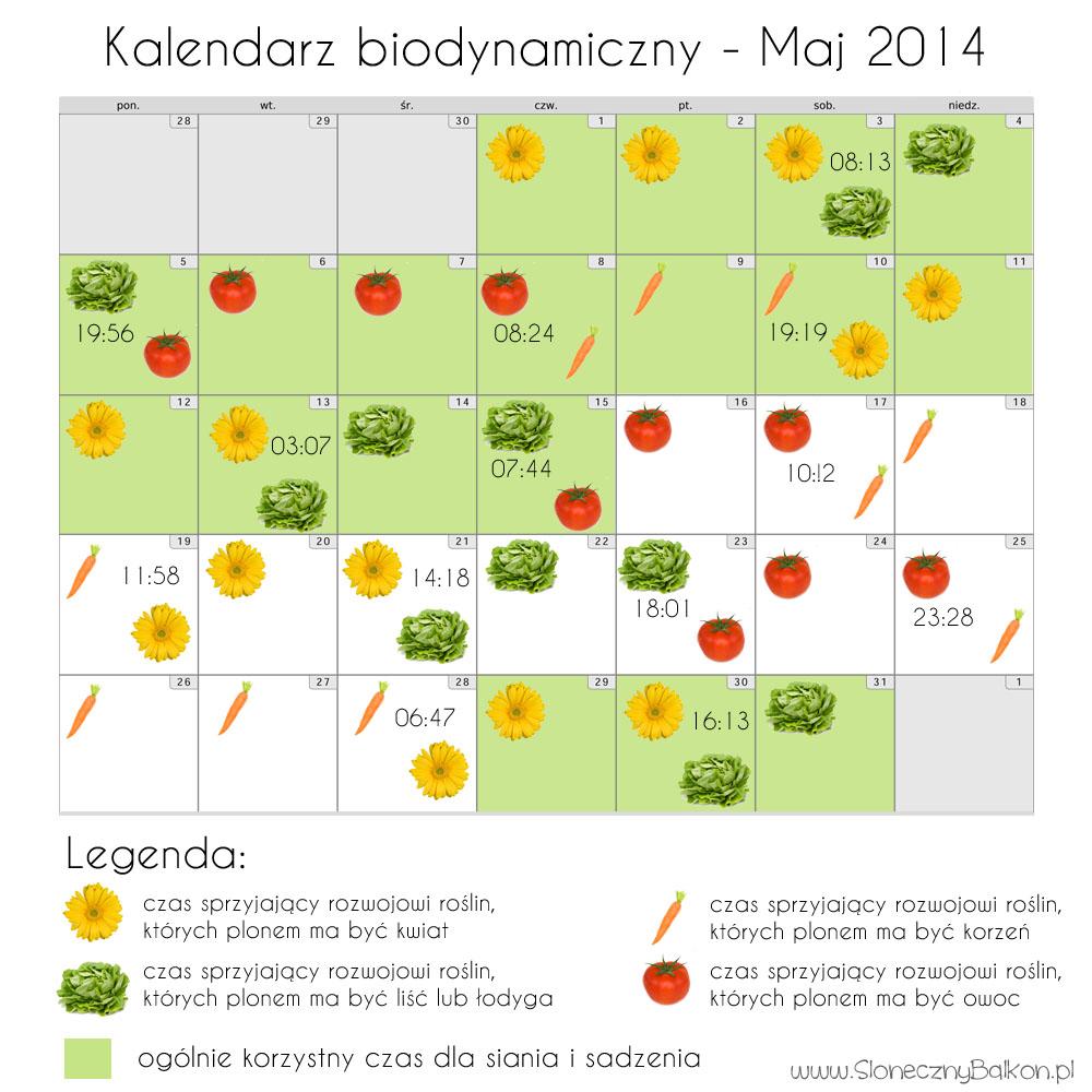 Kalendarz biodynamiczny – maj i czerwiec 2014