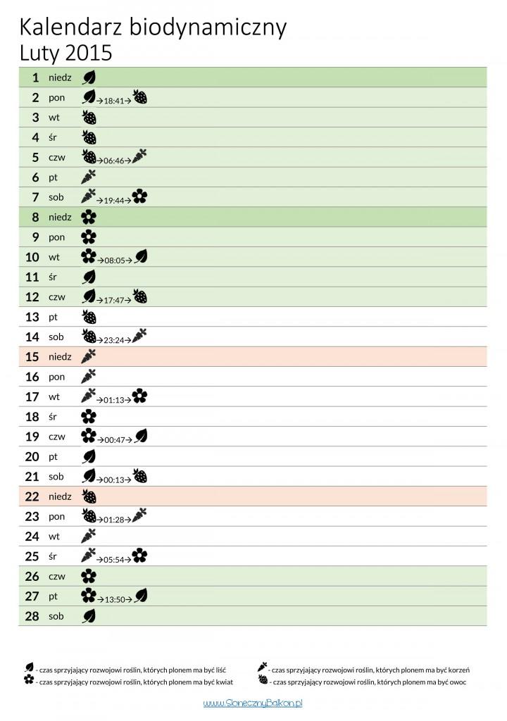 kalendarz biodynamiczny luty 2015