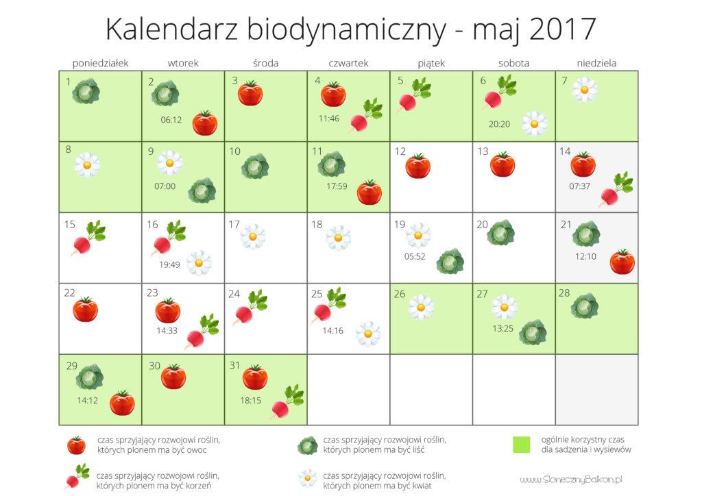 kalendarz biodynamiczny - maj 2017